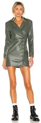 KENDALL + KYLIE Vegan Leather Blazer Dress