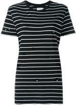 Zoe Karssen distressed striped T-shirt