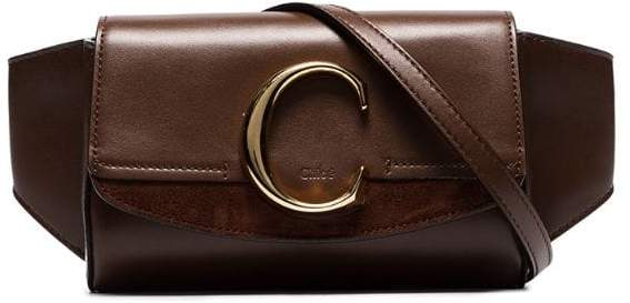 Chloé brownThe C leather belt bag