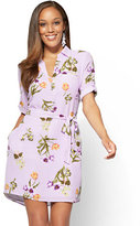 New York & Co. Popover Shirtdress - Floral
