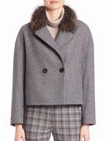 Peserico Silver Fox Trimmed Short Coat