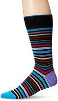 Bugatchi Men's Stripes and Lines Fancy Sock