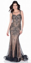 Terani Couture Baroque Illusion Beaded Evening Gown