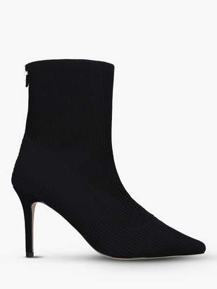 Carvela Sass Pointed Toe Stiletto Heel Boots, Black