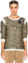 Lanvin Leopard Print Long Sleeve Top