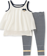 Juicy Couture White Popover Top & leggings - Toddler & Girls