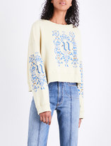 Undercover Cropped cotton-jersey sweatshirt