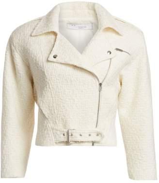 IRO Phyta Cropped Tweed Moto Jacket