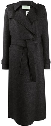 Harris Wharf London Long Wool Trench Coat