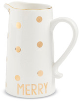 Mud Pie White Merry Gold Pitcher