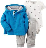 Carter's 3 Piece Hoodie Set (Baby) - Blue-24 Months