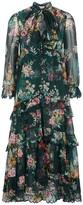 Zimmermann Wavelength Floral-print Silk Midi Dress