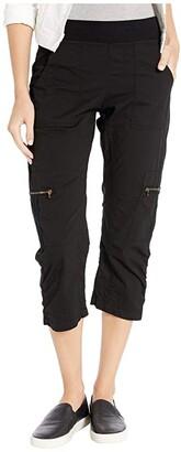 XCVI Nadia Crop (Black) Women's Casual Pants
