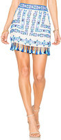 Rococo Sand Fringe Mini Skirt in White. - size L (also in )