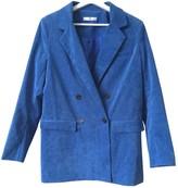 MANGO Blue Jacket for Women