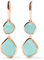 Monica Vinader Siren Rose Gold Vermeil Amazonite Earrings - One size
