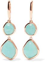 Monica Vinader Siren Rose Gold Vermeil Amazonite Earrings
