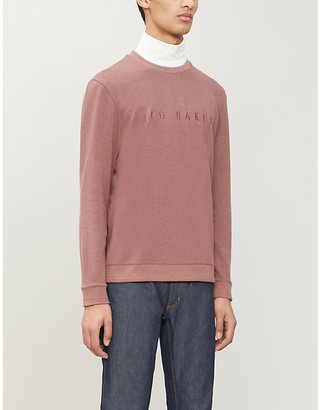 Ted Baker Porin brand-embroidered stretch-jersey sweatshirt