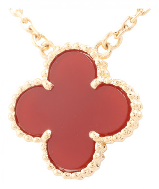 Van Cleef & Arpels Alhambra Red Yellow gold Necklaces