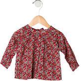 Jacadi Girls' Printed Long Sleeve Top