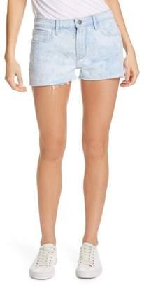 Frame Le Grand Garcon High Waist Cutoff Denim Shorts (Cloud)