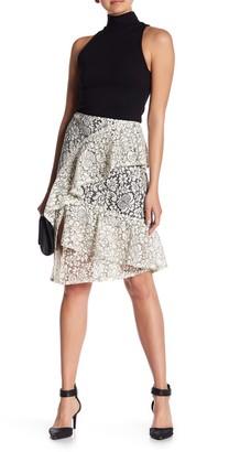 Nanette Lepore Lace Frill Skirt