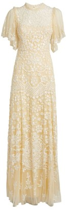 Needle & Thread Honesty Flower Embellished Gown