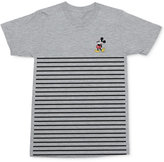 Mighty Fine Men's Mickey Mouse Pose Stripe Graphic-Print Cotton T-Shirt