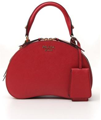 Prada Logo Top Handle Bag