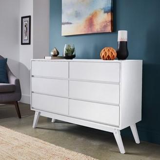 Bronx Mitton 6 Drawer Dresser Ivy Color: White