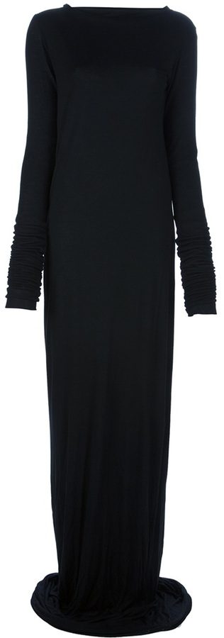 Rick Owens long-sleeved maxi dress