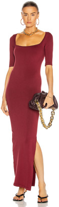 Simon Miller Mies Square Neck Dress in Burgundy | FWRD