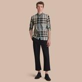 Burberry Button-down Collar Check Cotton Poplin Shirt