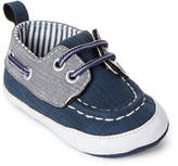 Rising Star (Infant Boys) Navy & Grey Boat Shoes