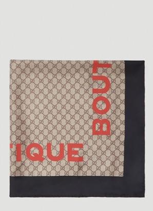 Gucci Boutique Print Scarf