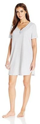 Karen Neuburger Womens Women's Short Sleeve Sleepdress Pajama Pj Ditsy FloralLarge