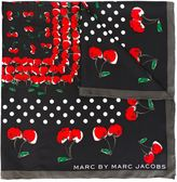Marc by Marc Jacobs cherry print square scarf