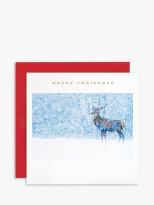 Susan O'Hanlon Monarch Deer Christmas Card