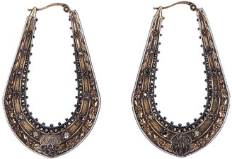 Alexander McQueen Embellished Antique Gold-tone Earrings