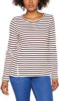 Tom Tailor Women's Striped Sweatie with Zips Sweatshirt
