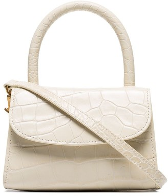 BY FAR Mini Crocodile-Embossed Tote