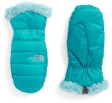 The North Face Girl's Mossbud Swirl Reversible Water Repellent Mittens