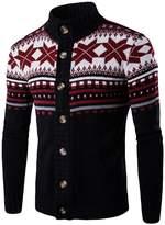 CeRui Men's Turtleneck Cardigan Sweater Casual Kintted Sweatertops XL