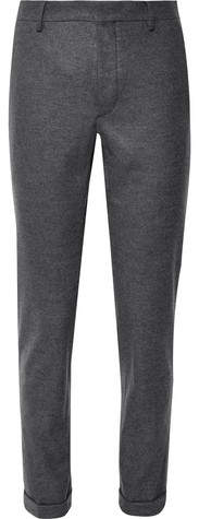 Prada Dark-Grey Slim-Fit Mélange Virgin Wool-Flannel Suit Trousers