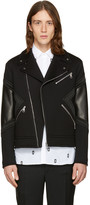 Neil Barrett Black Panelled Biker Jacket