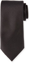 Neiman Marcus Textured Silk Tie, Black