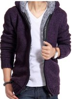 maimai88 New Fashion Thick Hooded Sweaters Cardigan Clothing (M, )