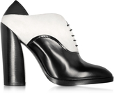 Jil Sander Black & White Leather and Suede Lace-up Bootie