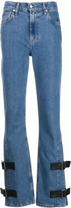 Helmut Lang Strap bootcut jeans