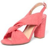 Dorothy Perkins Womens Wide Fit Pink 'Simba' Knot Heel Sandals- Pink